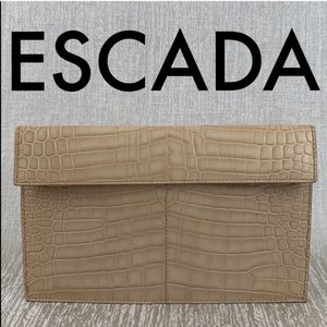 👑 ESCADA LEATHER CLUTCH / EVENING BAG 💯AUTHENTIC